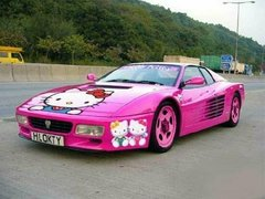 Hot Pink Cars