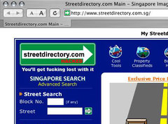 mrbrown: L'infantile terrible of Singapore: Streetdirectory.com hacked